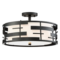 Nuvo Lighting Lansing Textured Black Semi-Flushmount Light