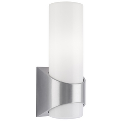 Kichler Modern Outdoor Wall Light with White Glass