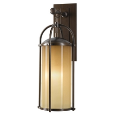 Modern Outdoor Wall Light in Heritage Bronze Finish