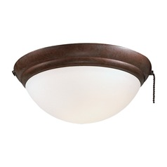 Light Kit with White in Oil Rubbed Bronze Finish