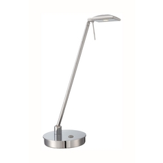 Modern LED Desk Lamp in Chrome Finish