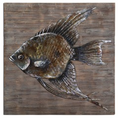 Uttermost Iron Fish Wall Art