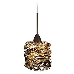 WAC Lighting Candy Dark Bronze LED Mini-Pendant Light with Cylindrical Shade