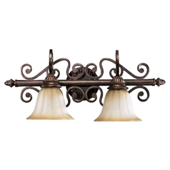 Quorum Lighting Summerset Toasted Sienna Bathroom Light