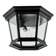 Livex Lighting Hamilton Black Close To Ceiling Light