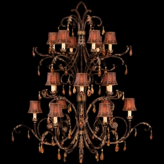 Fine Art Lamps Brighton Pavillion Bronzed Sienna Crystal Chandelier