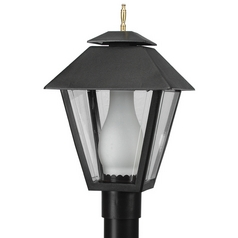 Wave Lighting Marlex Colonial Black Post Light