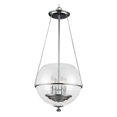 Sea Gull Lighting Havenwood Chrome LED Pendant Light with Bowl / Dome Shade