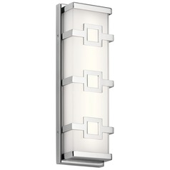 Elan Lighting Velitri Chrome LED Vertical Bathroom Light