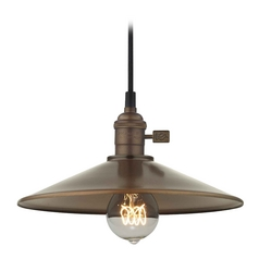Design Classics Lighting Industrial Hoyt Bronze Cone Shade Mini-Pendant Light  CA1-220 SHD2-220