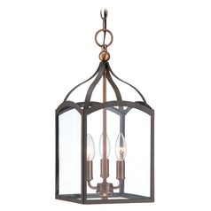 Hinkley Lighting Clarendon Bronze Mini-Pendant Light with Square Shade