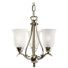 Kichler Lighting Kichler Pendant Light with White Glass in Brushed Nickel Finish 1731NI