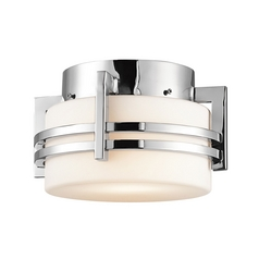 Kichler Vintage Outdoor Ceiling Light in Stainless Steel Finish