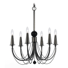 Modern Chandelier in Black Nickel Finish