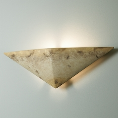 Sconce Wall Light in Greco Travertine Finish