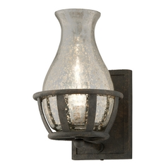 Sconce Wall Light with Mercury Glass in Chianti Bronze Finish