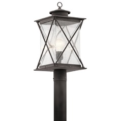 Kichler Lighting Argyle Weathered Zinc LED Post Light