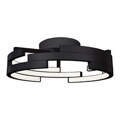 Kuzco Lighting Modern Black LED Flushmount Light 3000K 3260LM