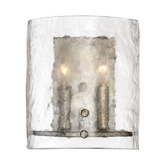 Lodge / Rustic / Cabin Sconce Silver Fortress by Quoizel Lighting