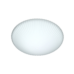 Modern Flushmount Light with White Glass