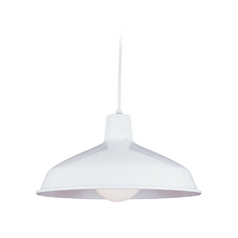 Farmhouse Barn Light White Painted Shade by Sea Gull Lighting