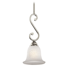 Kichler Mini-Pendant Light with White Glass