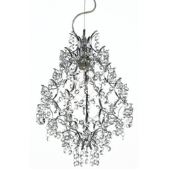 Ashford Classics Lighting Modern Crystal Small Chandelier Pendant in Chrome 2246