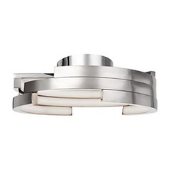 Kuzco Lighting Modern Brushed Nickel LED Flushmount Light 3000K 3260LM