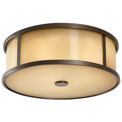 Modern Close To Ceiling Light in Heritage Bronze Finish