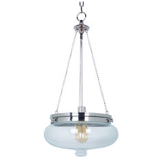Jeremiah Yorktown Polished Nickel Pendant Light with Bowl / Dome Shade