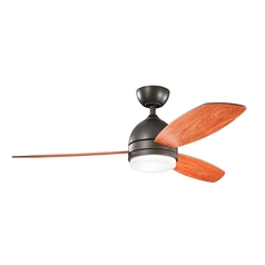 Kichler Lighting Vassar Olde Bronze Ceiling Fan with Light