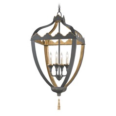 Currey and Company Lighting Beaumont Bel Air Black / Bel Air Gold Pendant Light