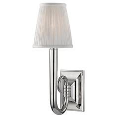 Traditional Sconce Polished Nickel Douglas by Hudson Valley Lighting