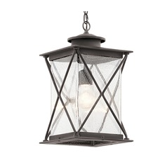 Kichler Lighting Argyle Weathered Zinc LED Outdoor Hanging Light
