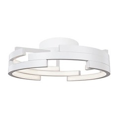 Kuzco Lighting Modern White LED Flushmount Light 3000K 3260LM
