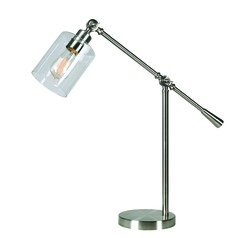 Thornton Brushed Steel Swing Arm Lamp by Kenroy Home