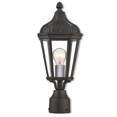 Livex Lighting Morgan Textured Black Post Light