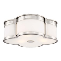 Minka Lavery Polished Nickel W/black Highlights Flushmount Light