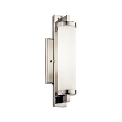 Kichler Sconce Wall Light with White in Polished Chrome Finish