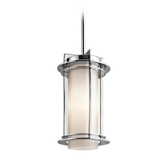 Kichler Outdoor Ceiling Hanging Light in Stainless Steel Finish
