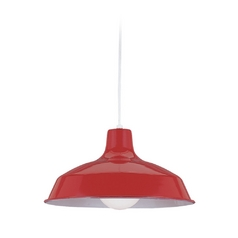 Farmhouse Barn Light Red Painted Shade by Sea Gull Lighting