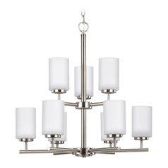 Sea Gull Lighting Oslo Brushed Nickel Chandelier