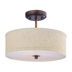 Design Classics Milo Remington Bronze Semi-Flushmount Light