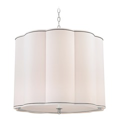 Sweeny 5 Light Pendant Light Drum Shade - Polished Nickel
