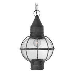 Hinkley Lighting Cape Cod Aged Zinc LED Outdoor Hanging Light