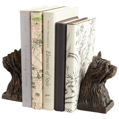 Cyan Design Westie Bronze Bookend