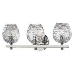Burns 3 Light Bathroom Light - Polished Nickel