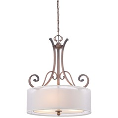Minka St. James Gold Pendant Light with Drum Shade