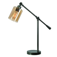 Thornton Warm Bronze Swing Arm Lamp by Kenroy Home