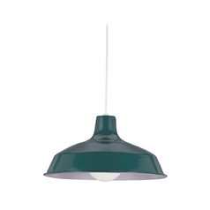 Farmhouse Barn Light Green Painted Shade by Sea Gull Lighting